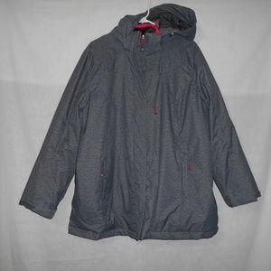 Zeroxposur Womens 1X Gray Hooded Jacket